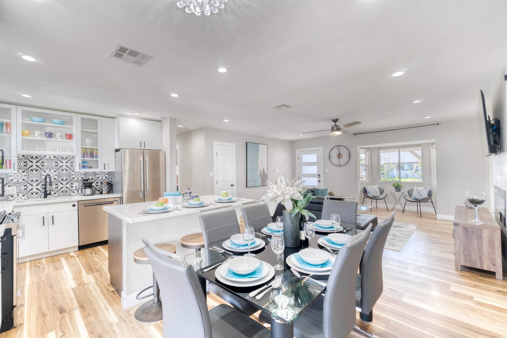 A White remodel kitchen